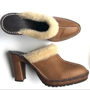 Donald J Pliner | B Happy Shearling Leather Mules
